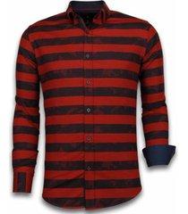 overhemd lange mouw tony backer blouse big stripe camouflage pattern