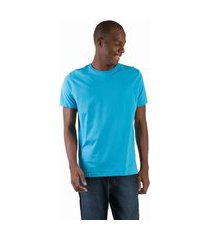 t-shirt básica comfort azul turquesa azul turquesa/g