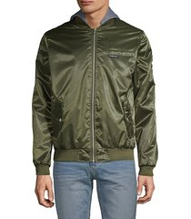 classic hooded bomber jacket