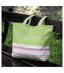 alpaca handbag, 'lime strawberry ' (peru)