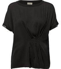 linaramma blouses short-sleeved svart by malene birger