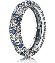 925 sterling silver midnight blue cosmic stars ring for women qjcb758