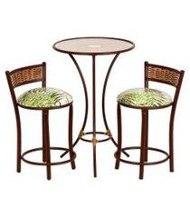 conjunto de mesa com 2 bancos | banquetas floral