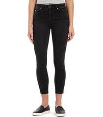 women's mavi jeans tess high waist ankle skinny jeans, size 29 27 - black