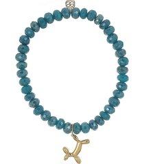balloon dog teal quartz bracelet