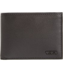 men's tumi delta double id lock(tm) shielded leather wallet - black