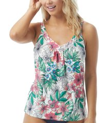 coco reef floral-print underwire tankini top women's swimsuit