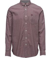 classic gingham shirt skjorta business brun fred perry