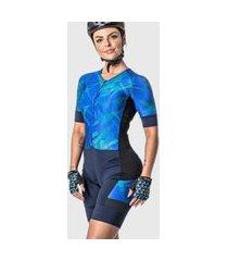 macaquinho feminino ciclismo harpy poker azul marinho