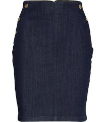 ultra midi skirt knälång kjol blå guess jeans