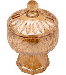 vaso potiche cristal com pé wolff 11x18cm louise ambar