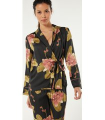 giacca in raso di viscosa dark orchid