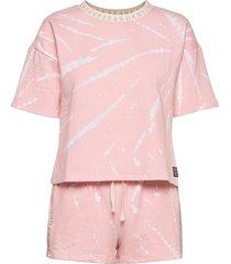 dkny calling top & boxer pj set s/sl. pyjamas rosa dkny homewear