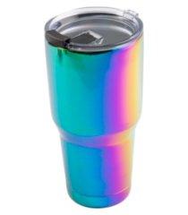 thirstystone by cambridge 30 oz shiny rainbow tumbler