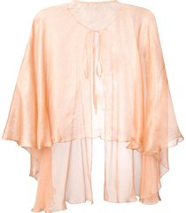 maria lucia hohan sheer flared cape - orange