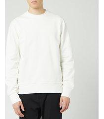 y-3 men's back logo crew neck sweatshirt - white - l