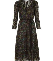 jurk met print samantha  zwart