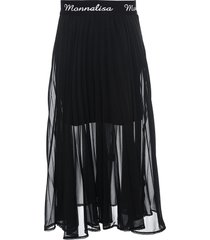 monnalisa logo embroidered pleated skirt