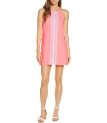women's lilly pulitzer pearl romper dress, size 10 - pink
