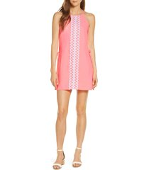 women's lilly pulitzer pearl romper dress, size 00 - pink
