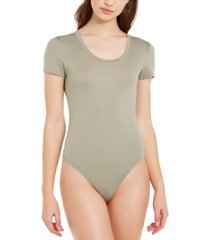 planet gold scoop-neck thong bodysuit