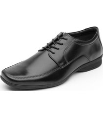 zapato cuero formal sato negro flexi