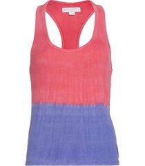 spiritual gangster women's dulce racerback yoga tank top - watermelon purple tie dye x-small spandex