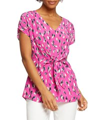 women's nic+zoe cool cat top, size x-small - pink