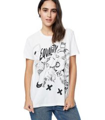 t shirt silk equality off white