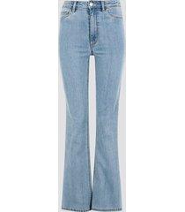 jane high waist bootcut jeans - ljusblå