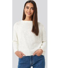trendyol sequin sweater - white