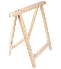 cavalete em madeira simples 75x80cm natural