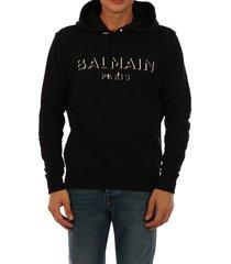 balmain hoodie 3d logo black