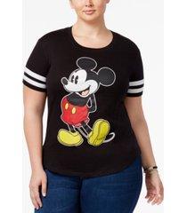 disney trendy plus size mickey graphic t-shirt