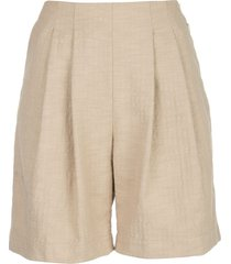 wood wood birgit pleated shorts - yellow