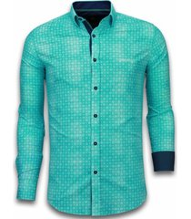 gentile bellini italiaanse overhemden turquoise