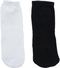 kit meia soquete stz dois pares 34 ao 38 branco e preto