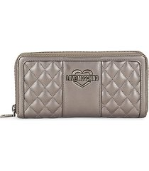 quilted faux leather continental wallet