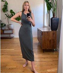 lou & grey signaturesoft jersey henley maxi dress