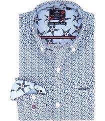 overhemd new zealand blauw dessin