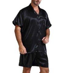 conjunto de pijama transpirable satinado para hombre soft