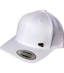 gorra fist con pin blanca con malla atrás gfistcap18