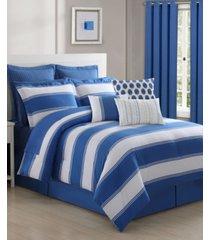 cabana stripe 4-piece queen comforter set bedding