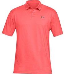 camiseta polo under armour performance textured para hombre - coral