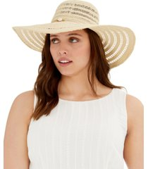 steve madden golden shells floppy hat