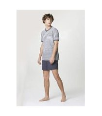 pijama curto listrado - 7c9t1aen13 hering masculino