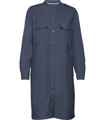 annie marly dress knälång klänning blå mos mosh