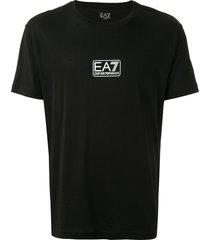 ea7 emporio armani mini box logo t-shirt - black