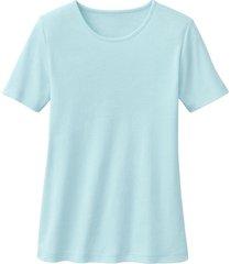 biokatoenen shirt met ronde hals, turkoois 36