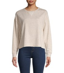 for the republic women's heathered long-sleeve top - oatmeal heather - size l